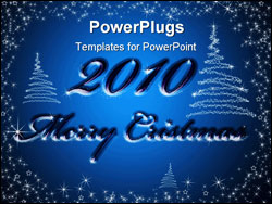 PowerPoint Template - The New year 2010 in red background