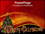 PowerPoint Template - Merry Christmas Illustration composition for holiday border clip art or label with 3D fancy text