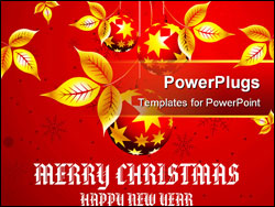 PowerPoint Template - Christmas Concept Illustration Image you can use it for any sale time or seasons