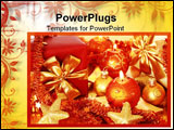 PowerPoint Template - Christmas still life with candles in golden tone