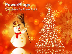 PowerPoint Template - Beautiful vector Christmas (New Year) background for design use