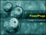 PowerPoint Template - Hanging chirstmas balls