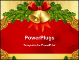 PowerPoint Template - The vector illustrations - gold ornate Christmas background