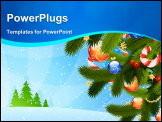 PowerPoint Template - Vector Christmas background with gold Christmas bells