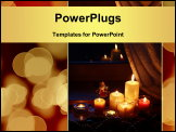 PowerPoint Template - Candles with Christmas decorations in dark interior