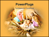 PowerPoint Template - christmas nativity scene