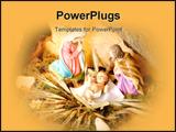 PowerPoint Template - christmas nativity scene