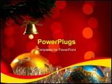 PowerPoint Template - Christmas Decoartion. Shallow focus