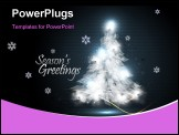 PowerPoint Template - Christmas Greeting Card with Tree of Lights