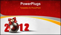 PowerPoint Template - New year and Christmas holidays colorful background