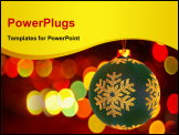 PowerPoint Template - Christmas bauble. This 3d render composed with real photographic background.