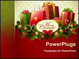 PowerPoint Template - Christmas background vector image