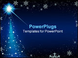 PowerPoint Template - Blue Christmas Bckg 7 - background illustration as vector