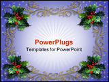 PowerPoint Template - Image and illustration composition for Christmas holiday card border background