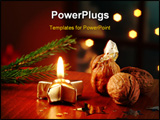 PowerPoint Template - Christmas still life - Surprise in a walnut shell