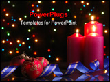 PowerPoint Template - Christmas evening. A composition from candles New Year\