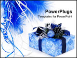 PowerPoint Template - Gift box wrapped in the paper with the bow