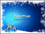 PowerPoint Template - Christmas gifts on a grunge snowflake background
