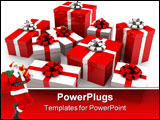 PowerPoint Template - 3d rendered illustration of some christmas gifts