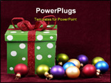 PowerPoint Template - christmas gift and ornaments