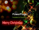 PowerPoint Template - christmas tree at night, with a cross-screen filter