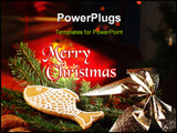 PowerPoint Template - Christmas still life, presents in the background