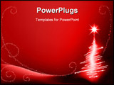 PowerPoint Template - Abstract Christmas Tree