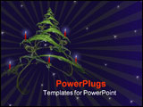 PowerPoint Template - A highly detailed, abstract Christmas tree, decorated with red candles.