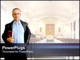 PowerPoint Template - Cool pastor in church.