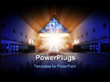 PowerPoint Template - Church with image of jesus and vitreaux