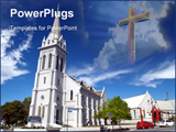 PowerPoint Template - Beautiful history church in small but beautifully formed city timaru town new Zealand