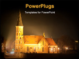 PowerPoint Template - This is a churh in the night time.