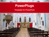 PowerPoint Template - Interior of Church of Dominicans.