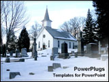 PowerPoint Template - A church covered by winter snow.