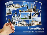 PowerPoint Template - Collage with several shots of ancient orthodox churches on the north-west of Russia