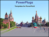 PowerPoint Template - view of the Kremlin vastly blazhennog