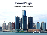 PowerPoint Template - nice city view across the river