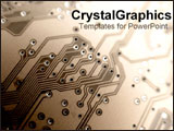 PowerPoint Template - Brown close-up of circuit board.