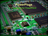 PowerPoint Template - Printed circuit board on a graphics card