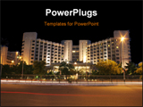 PowerPoint Template - A five star hotel night shot