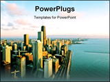 PowerPoint Template - Aerial view of Chicago