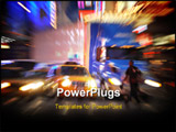 PowerPoint Template - a colorful action packed city motion blur