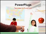 PowerPoint Template - Teacher and students in a classroom at school ** Note: Slight blurriness, best at smaller sizes