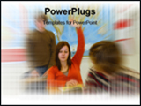 PowerPoint Template - Teen girl With Answer
