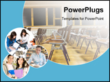 PowerPoint Template - Collage of Students and classroom