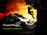 PowerPoint Template - climbers in the Swiss Alps