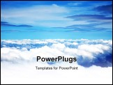 PowerPoint Template - Image of clouds on a blue sky background