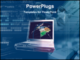 PowerPoint Template - laptop in a graphical background