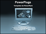 PowerPoint Template - web computer on a desk