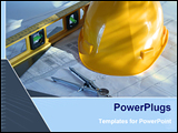 PowerPoint Template - construction with instruments